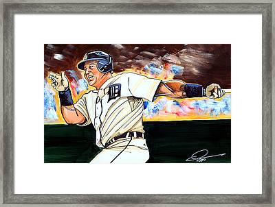 Miguel Cabrera  Framed Print by Dave Olsen