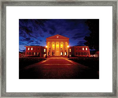 Mississippi Lyceum At The University Of Mississippi Framed Print by University of Mississippi - Imaging Services