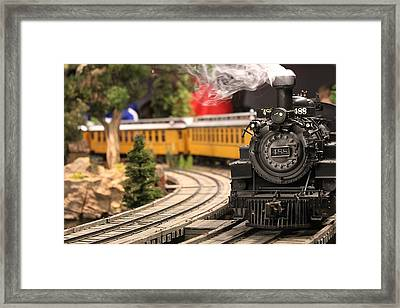 Model Train Framed Print