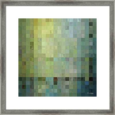Modern Tile Art One Modern Decor Collection Framed Print by Mark Lawrence