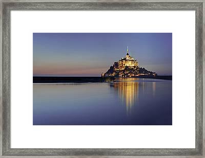 Mont Saint-michel, France Framed Print by David Min