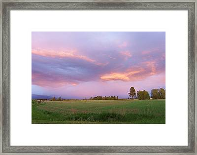 Montana Sunsets 3 Framed Print
