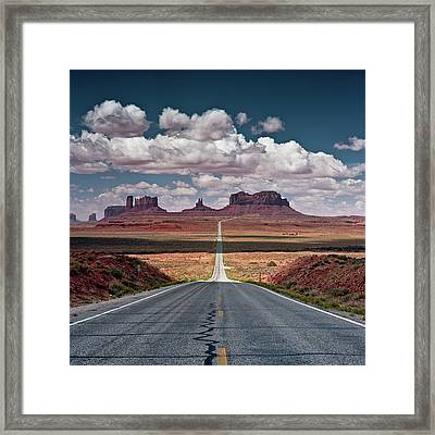 Monument Valley Framed Print by BrusselsImages