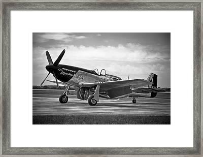 Moonbeam Mcswine P-51 Framed Print