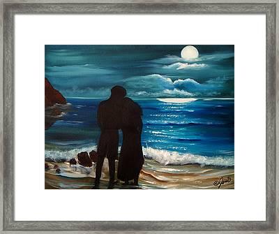 Moonlight Romance Framed Print