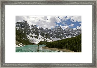 Moraine Lake Jasper National Park Landscape Photograph Canadian Rockies Framed Print by Larry Darnell