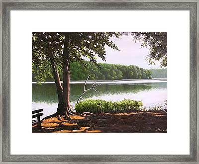 Morning At City Lake Park Framed Print by Larry Hoskins