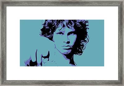 Morrison To My Doors Framed Print by Jera Sky