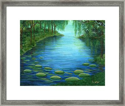Mossy Cove Framed Print by Diana Lehr