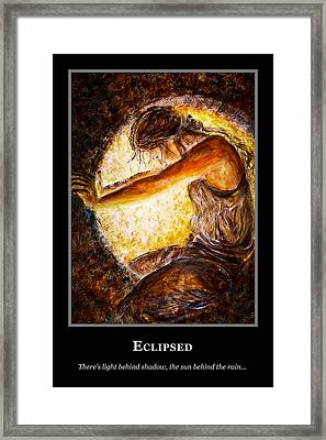 Framed Print featuring the painting Motivational Hope by Nik Helbig