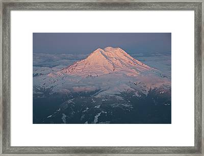 Mount Rainier, Wa Framed Print by Professional geographer who loves to capture landscapes
