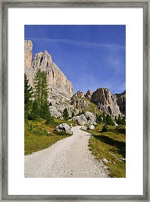 Mountain Road Framed Print by Nicolas Emery