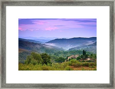 Mountains Framed Print by Christian Wilt