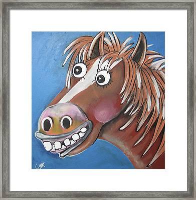 Mr Horse Framed Print