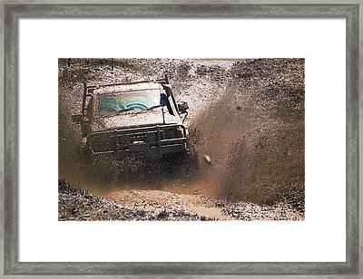 Mud Slinger Framed Print