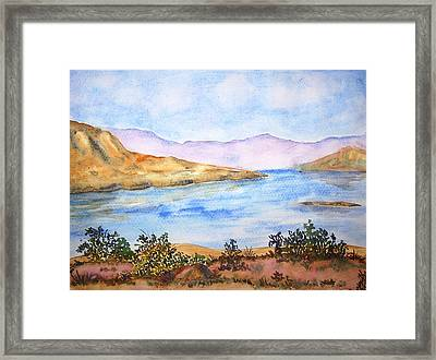Mulshi Lake Framed Print by Monika Deo