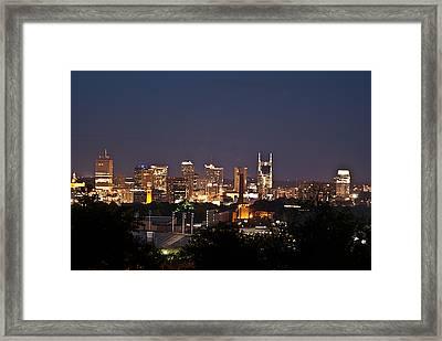 Nashville Cityscape 1 Framed Print by Douglas Barnett