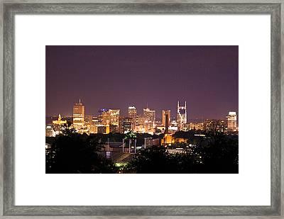 Nashville Cityscape 3 Framed Print by Douglas Barnett