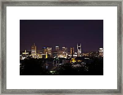 Nashville Cityscape 4 Framed Print by Douglas Barnett