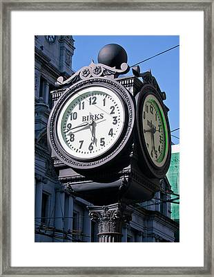 Nearly A Quarter To Six Framed Print