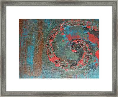 Neon Scroll Framed Print