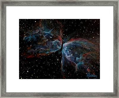 Ngc 6302 Butterfly Nebula Framed Print by Alizey Khan