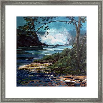 Niagara Thunder Series 6 Framed Print by J R Baldini