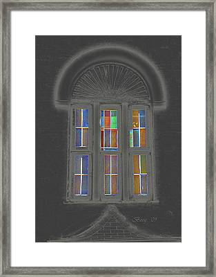 Framed Print featuring the photograph Night Window by Larry Bishop