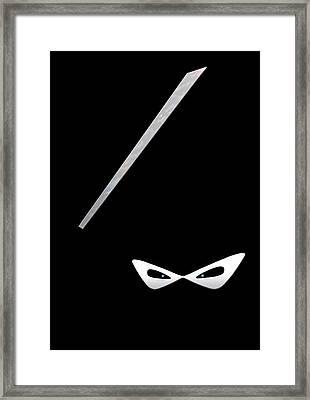 Ninja Framed Print by Nicklas Gustafsson