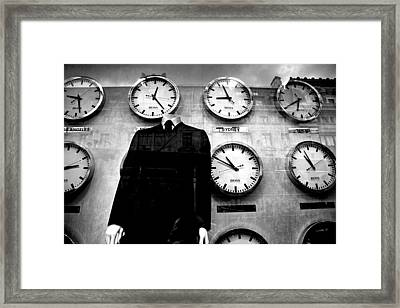 No Head For Time Man Framed Print