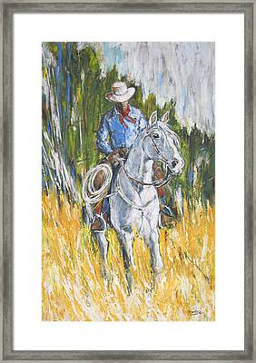 Framed Print featuring the painting No Looking Back by Debora Cardaci