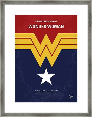 No825 My Wonder Woman Minimal Movie Poster Framed Print