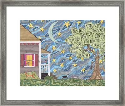 Nocturnal Parade Framed Print