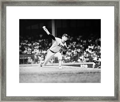 Nolan Ryan (1947- ) Framed Print by Granger