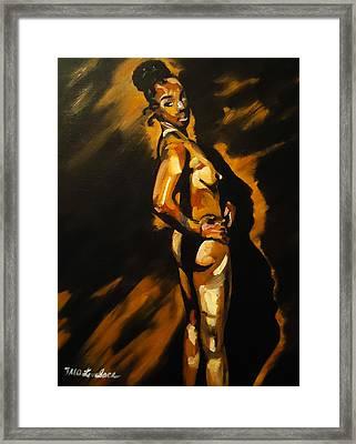 Nude In Profile Framed Print