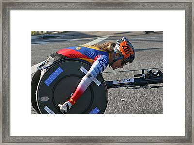 Nyc Marathon Edith Hunkeler Framed Print