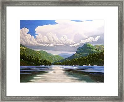 Off The Boat Framed Print by Larry Hoskins