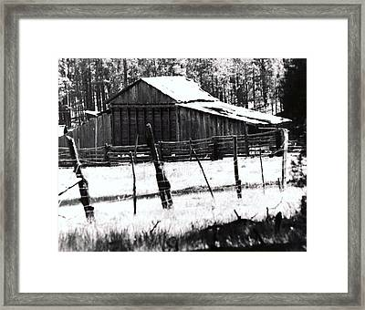 Old Barn Alpine Az  Framed Print