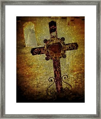 Old Cross Framed Print by Perry Webster