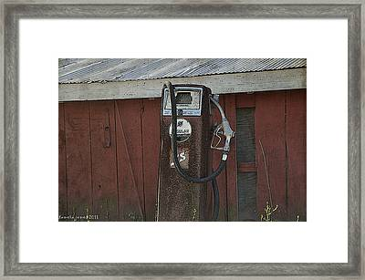 Old Farm Pump Framed Print by Tamera James