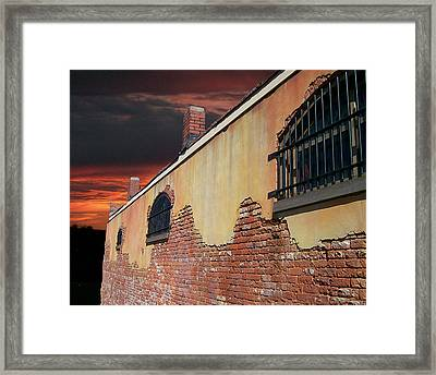 Framed Print featuring the photograph Old Jail by Larry Bishop