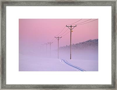 Old Powerlines Framed Print by www.WM ArtPhoto.se