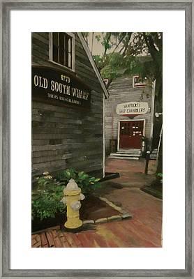 Old South Wharf Framed Print by David Poyant
