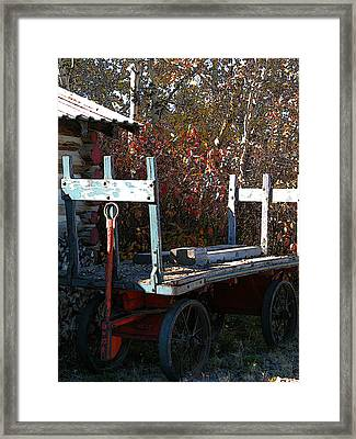 Framed Print featuring the digital art Old Wagon by Stuart Turnbull