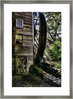 Old Water Wheel Framed Print by Michael  Ayers