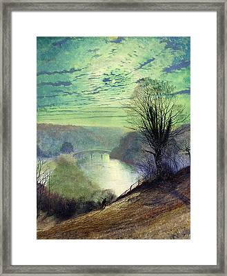 On The Tees Near Barnard Castle Framed Print