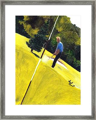 One Putt Away Framed Print by David Poyant