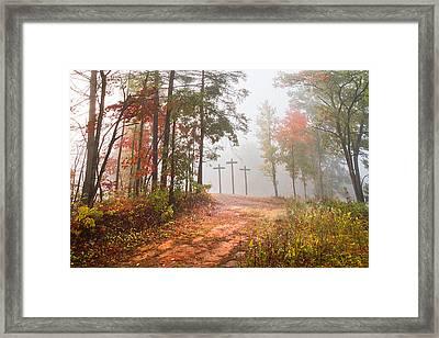 One Way Framed Print by Debra and Dave Vanderlaan