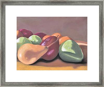 Opposite Attraction Framed Print by Jan Amiss