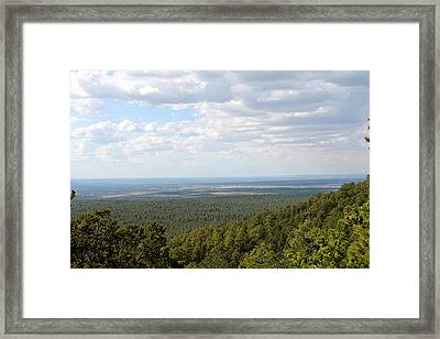 Overlooking Pinetop Framed Print